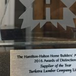 The 2016 Supplier of the Year Award.