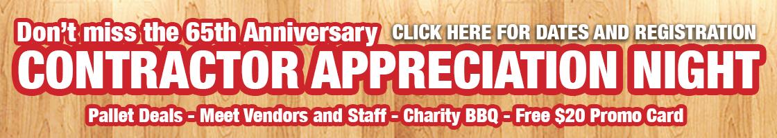 Turkstra Lumber 65th Anniversary Contractor Appreciation