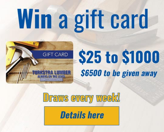 Turkstra Lumber - Hamilton Tiger Cats -Promo -- Win $25 to $1000. Up to $6500 in gift cards to be given away.